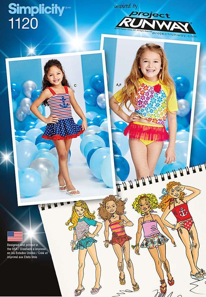 get this adorable inspired by project runway swimsuit pattern with ...