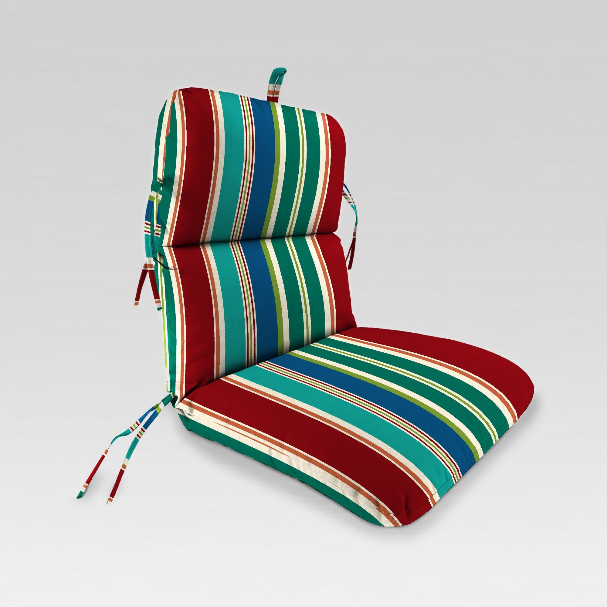 Outdoor Knife Edge Dining Chair Cushion Red/Blue/Green