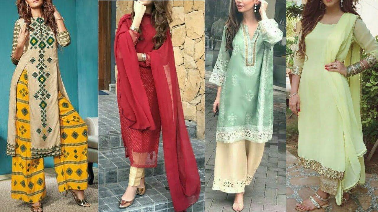 Top 20 Palazzo Suit Design Ideas Latest Palazzo Suit Designs 2018 Latest Suit Design Indian Designer Wear Simple Dresses