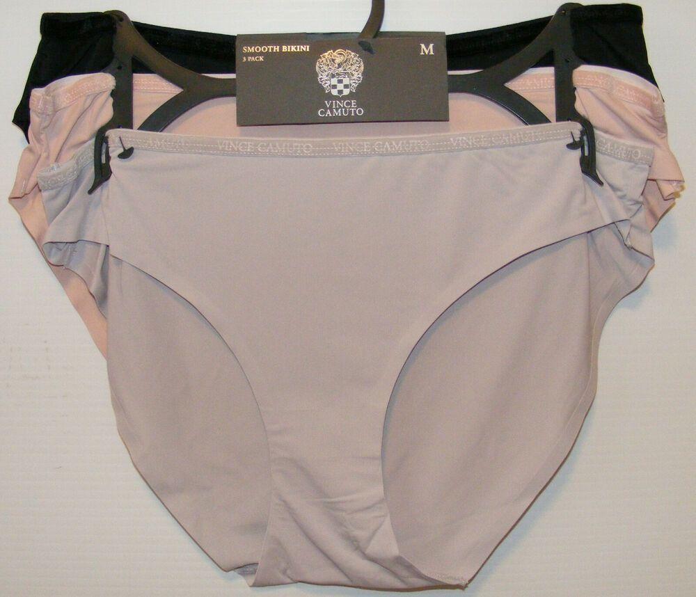 3e6d0c45758 (eBay Ad) Vince Camuto 3 Pack Panties Bikini No Panty Lines Vince Camuto  Logo