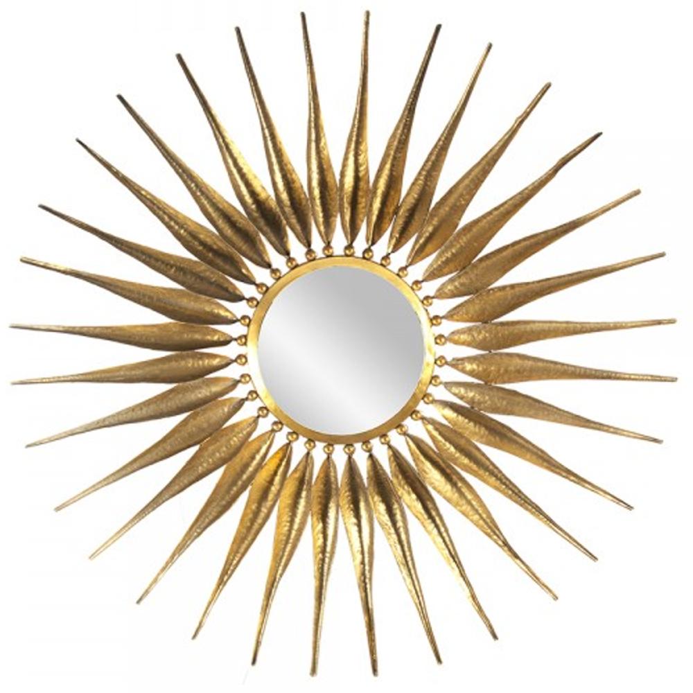 Cadence Gold Sunburst Mirror Gold Sunburst Mirror Antique Gold Mirror Sunburst Mirror