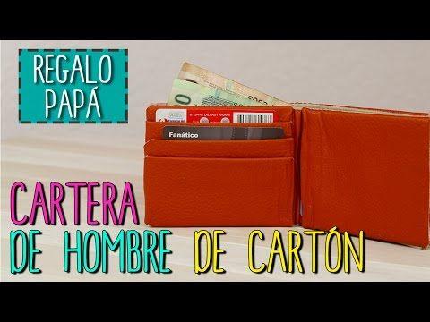 15b182c01 Cartera de Hombre Reciclada - De Cartón - Manualidades Día del Padre -  Cartonaje - YouTube
