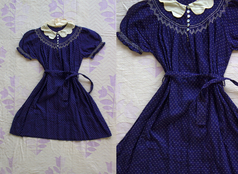 37c1d8e931f RESERVED Vintage 1930 s Little Girl s Dress