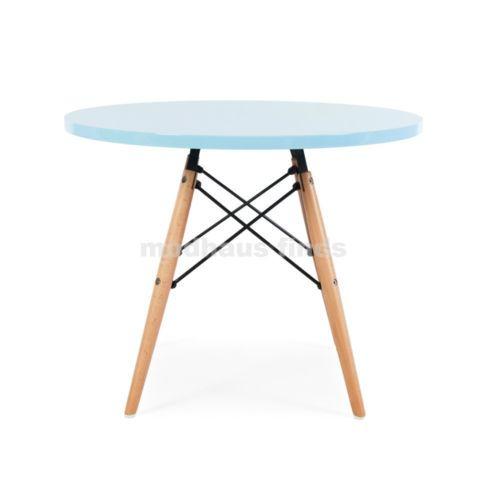 Mid Century Modern Retro Designer DSW Kid Children Blue Round Play Table  Nursery