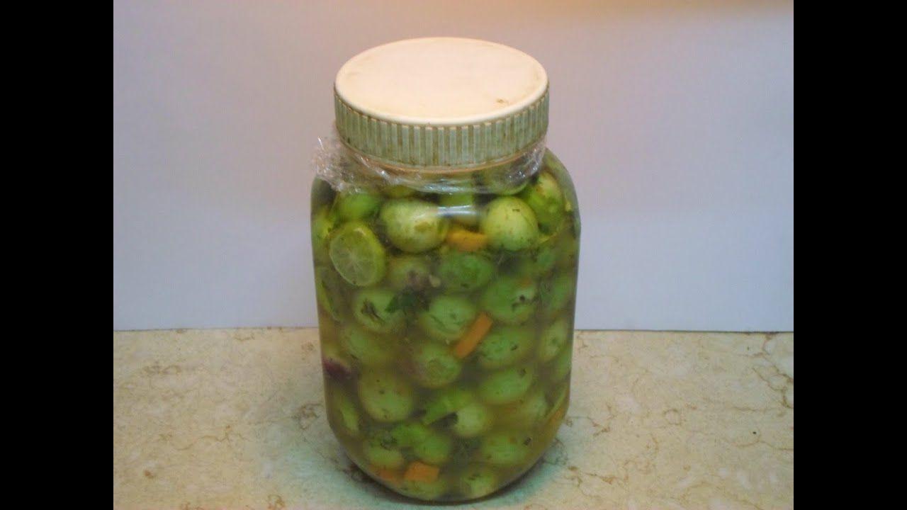 طريقة عمل مخلل الزيتون الأخضر في البيت مثل الجاهز Olive Pickle Youtube Pickles Cucumber Condiments
