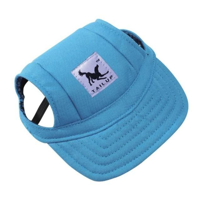 ea247537873 Dog Hat With Ear Holes Summer Canvas Baseball Cap For Small Pet Dog Outdoor  Accessories Hiking Pet Products -10 Styles New