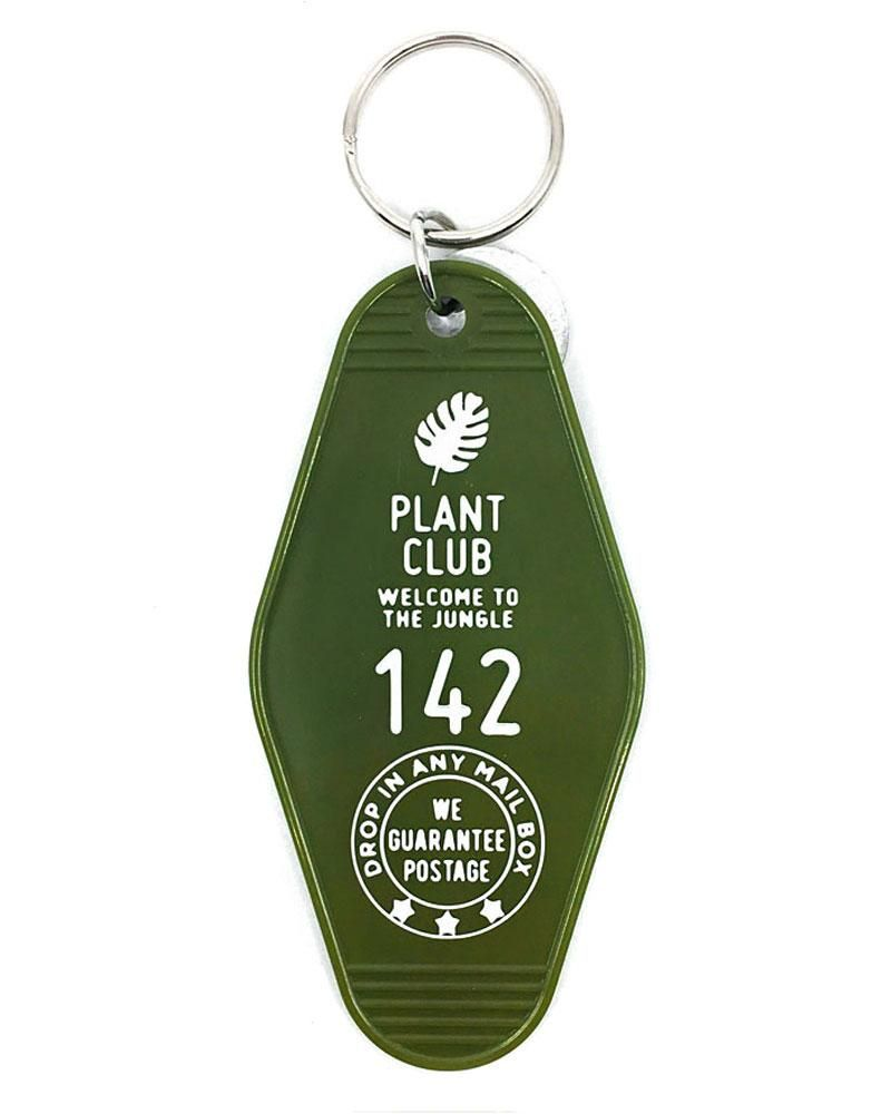 Plant Club Hotel Key Tag Keychain Key Tags Keychain Key Keychain