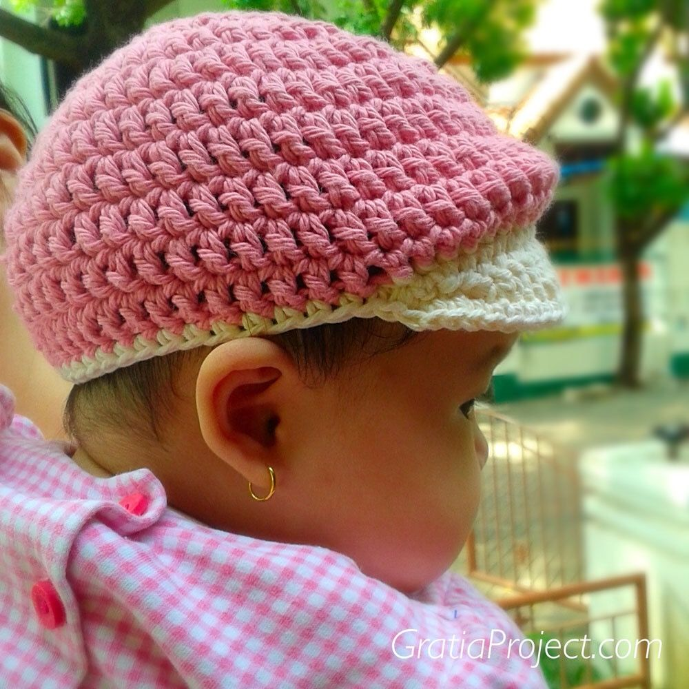 Super Cute Newsboy Hat Crochet Pattern for Babies. Free pattern and ...