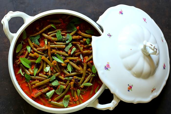 Fasolka Szparagowa W Sosie Z Pomidorow Malinowych Facet I Kuchnia