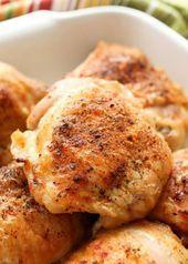Pollo crujiente al horno obtenga la receta en barefeetinthekitc
