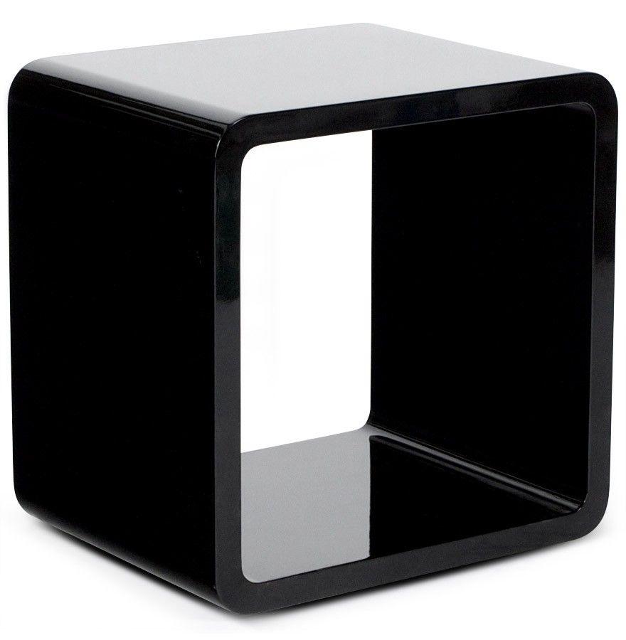 Cube De Rangement Kubic Noir Empilable D Co Pinterest  # Meuble Rangement Noir Bois