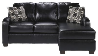 Ashley Devin Bonded Leather Sofa Homemakers Furniture Chaise Sofa Black Leather Furniture Furniture