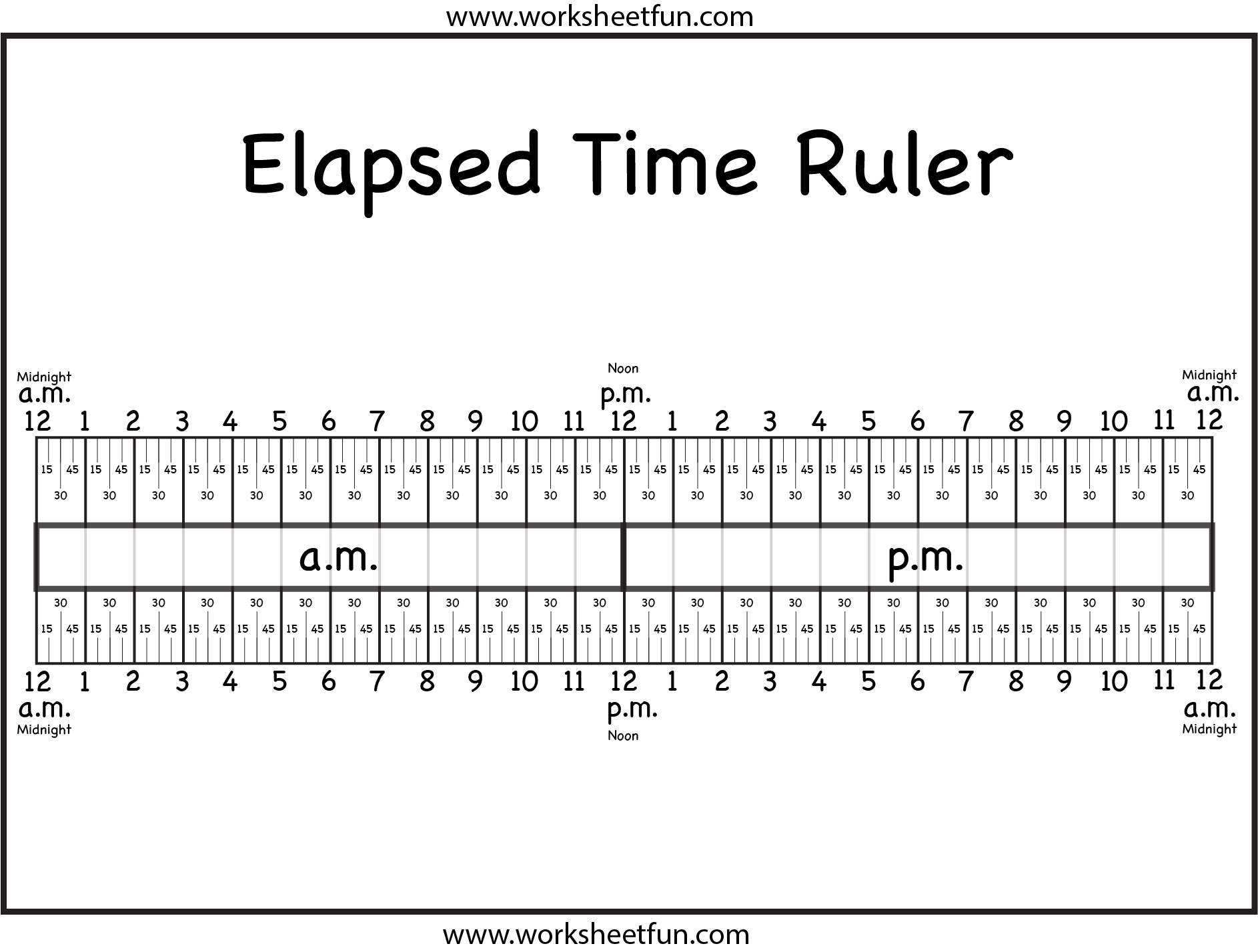 Elapsed Time Ruler 0 15 30 45 60 Minutes