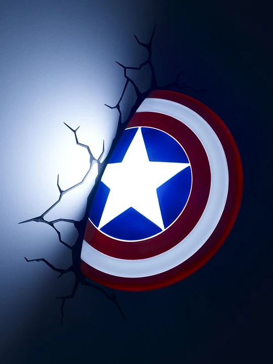 Captain America 3d Light In 2020 Marvel Room 3d Deco Light Marvel Bedroom