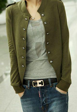 Simple Leisure Pure Color Jacket