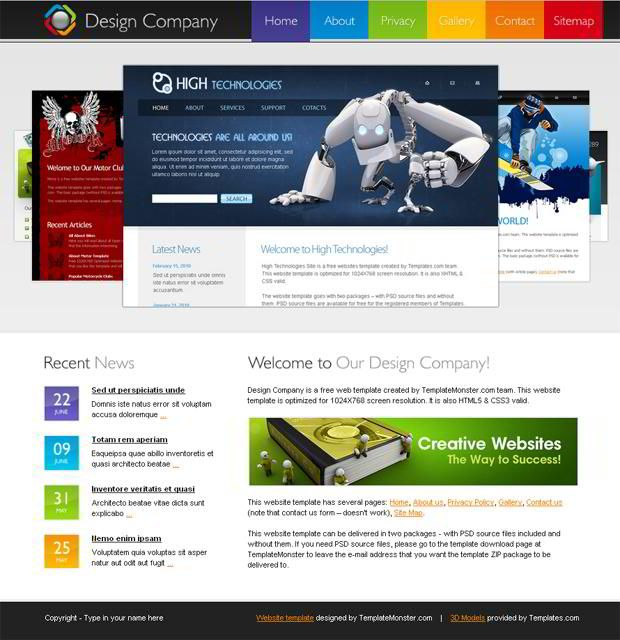 kostenloses html template website einer design firma free with - resume web template