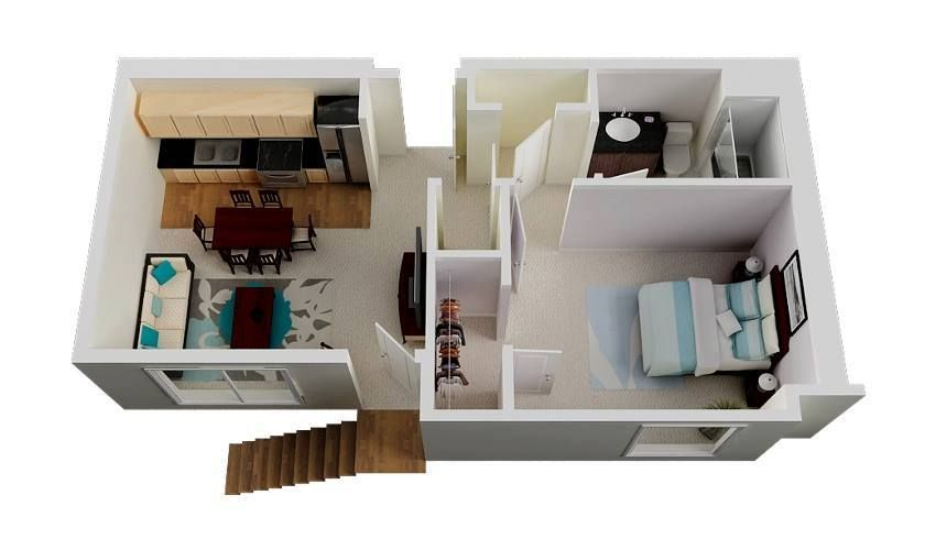 One Bedroom Plan With Images One Bedroom House Plans One
