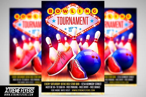Bowling Flyer Template  Flyer Template