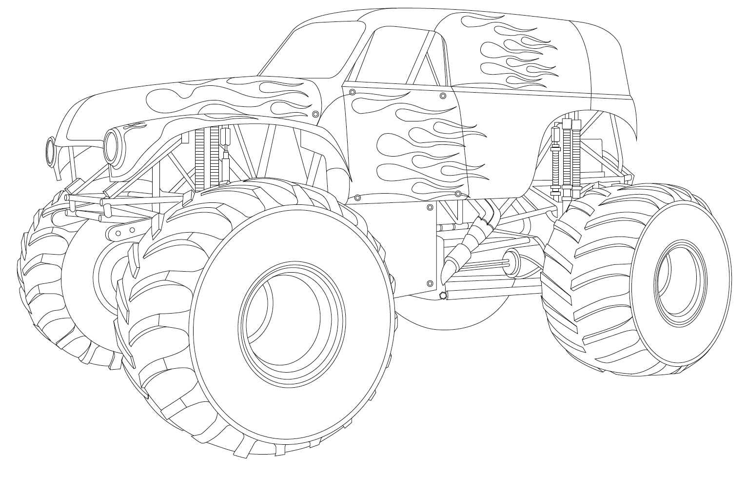 Monster Truck Coloring Pages Grave Digger | Crafts/ Experiments ...