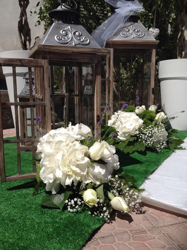 Matrimonio Shabby Chic Total White : Wedding ortensia bianca fiori lanterna fiorista