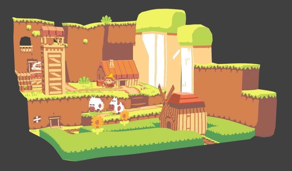 New Scene Made With Sprytile Indie Game Art Pixel Art Pixel Art Games
