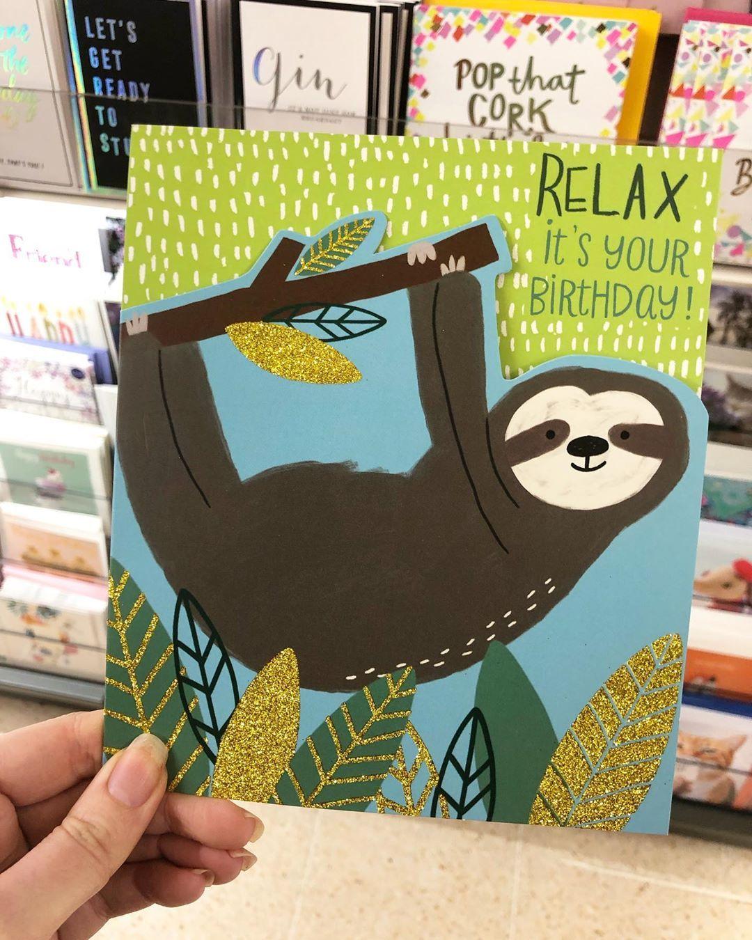 Sloth Birthday Card Sainsburys