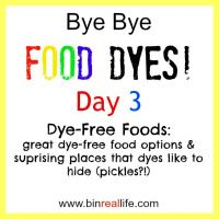 Day 3: Dye Free Foods