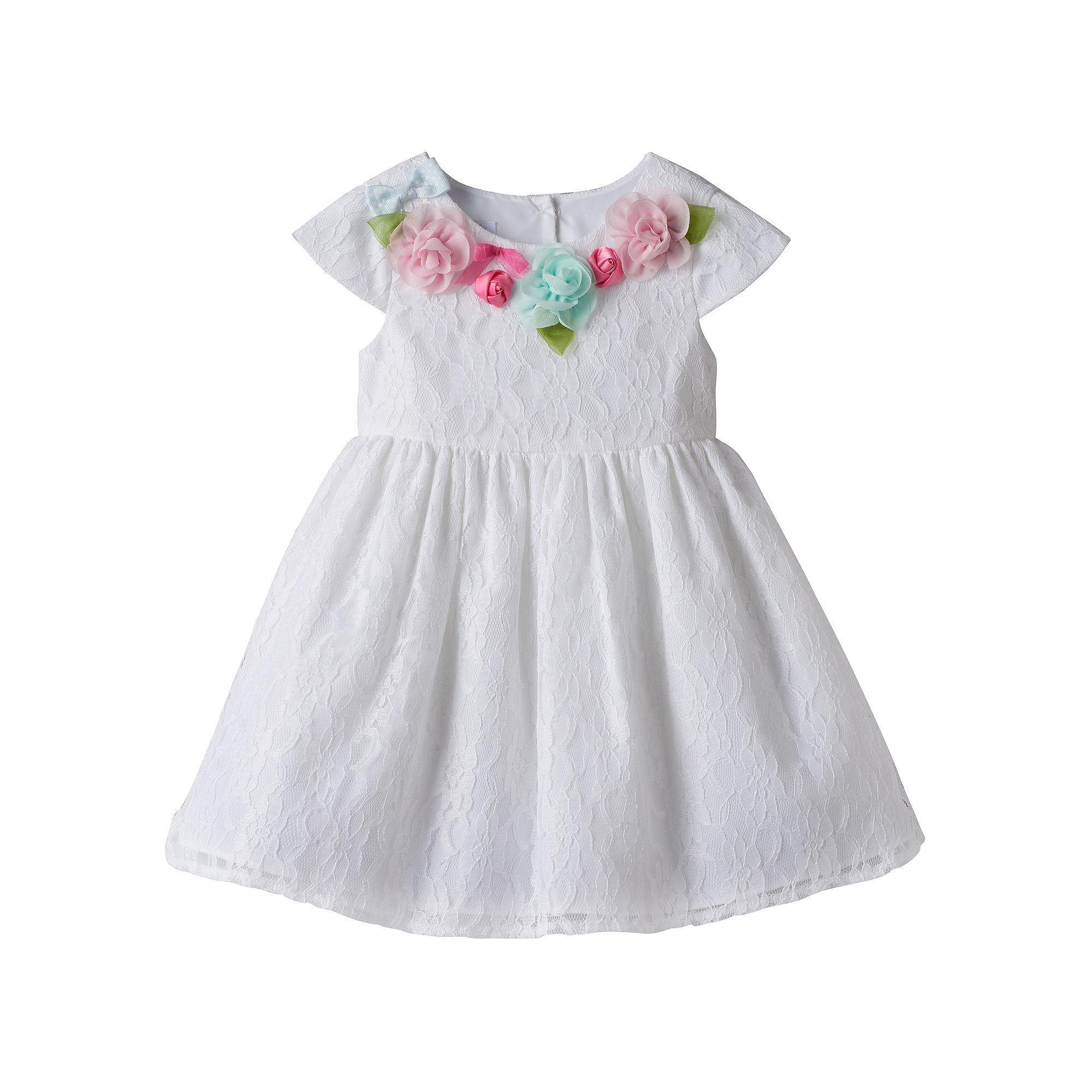 Marmellata Classics Baby Girl Marmellata Classics Rosette Dress