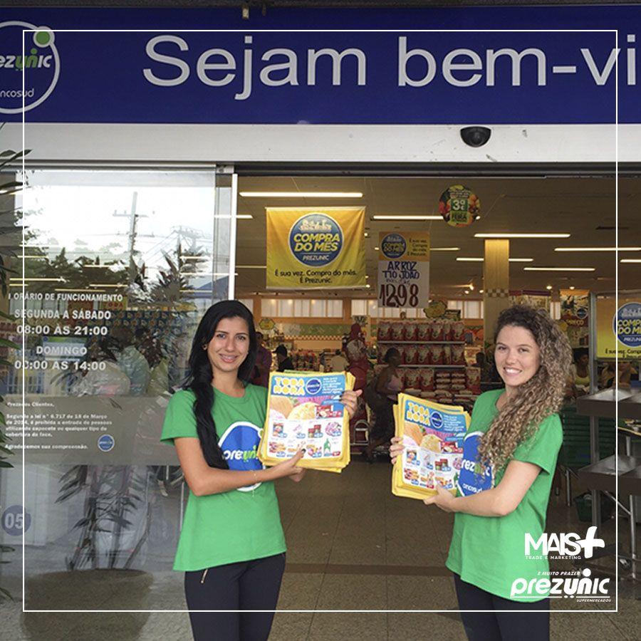 Toda Hora dos Supermercados Prezunic. Panfletagem rolando em alguns bairros do Rio.