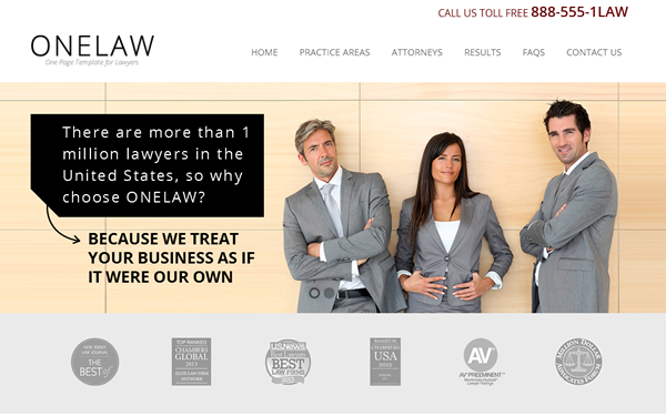 ONELAW - Onepage Template for Lawyers Website - #Download #Themes ...