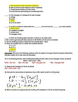 acids bases and salts chemistry test key year 12 atar rh pinterest com Acid-Base Reaction Acid-Base Ph