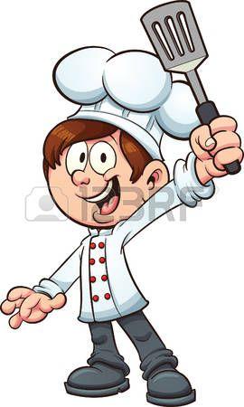 Koch bei der arbeit clipart  50221270-chef-junge-der-einen-spachtel-vector-clip-art ...