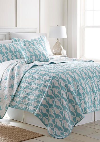 picturesque better homes and gardens quilts. Elise  James Home Seahorse Reversible Quilt Collection Bedding