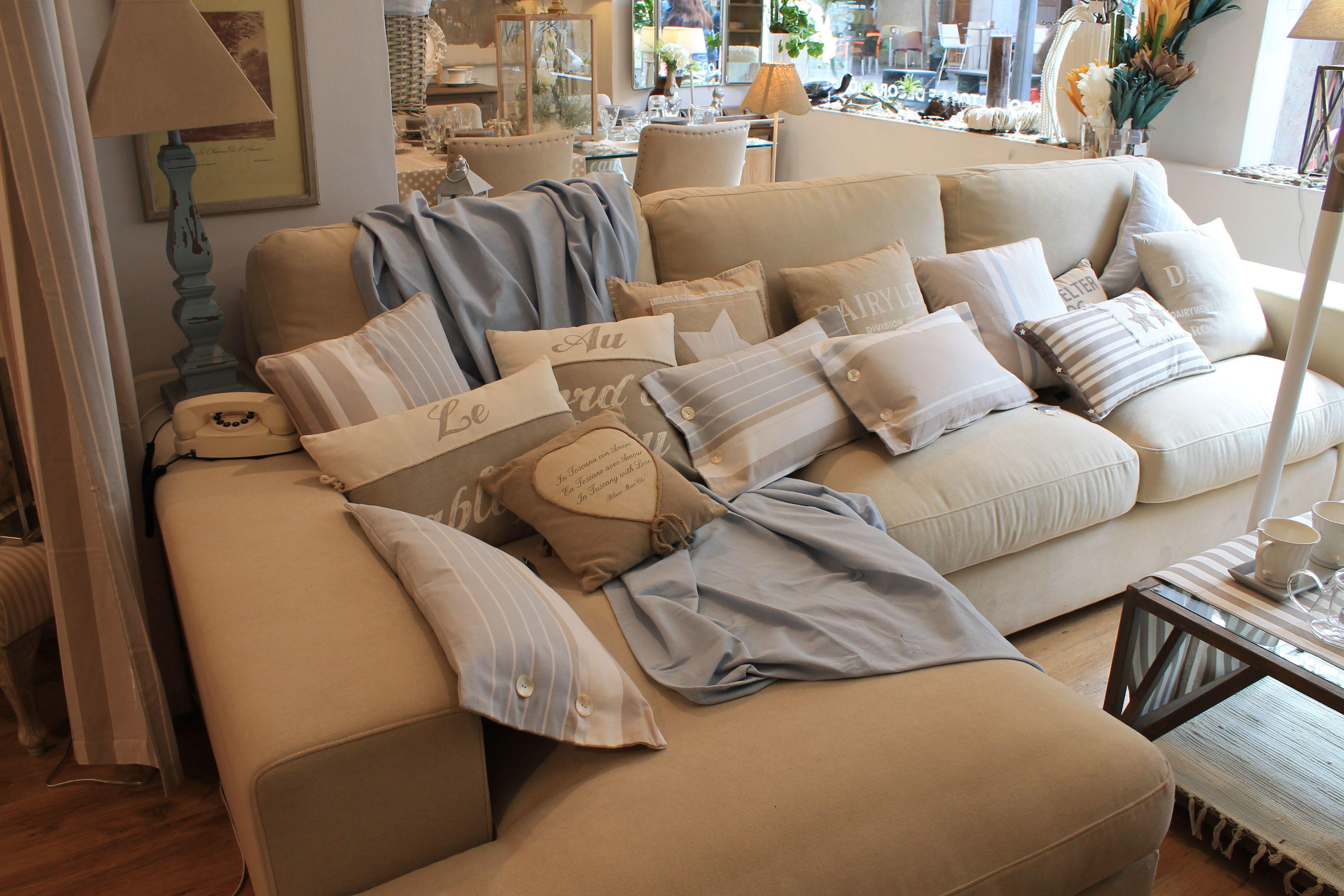 sofá chaise longue arena. sofá chaise longue #decoración