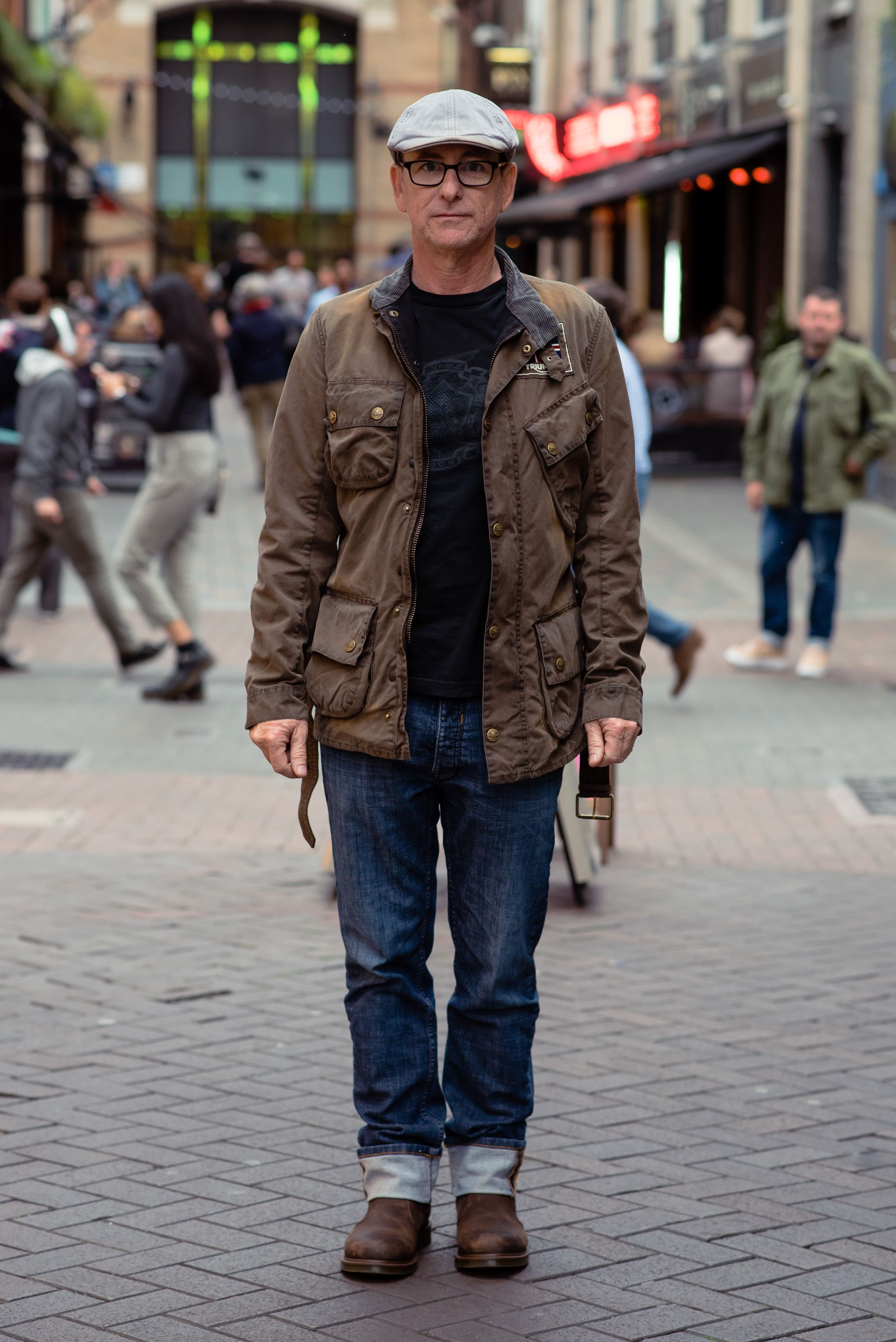d81cc357b Dan was spotted wearing our Barbour International Legend Wax Jacket ...