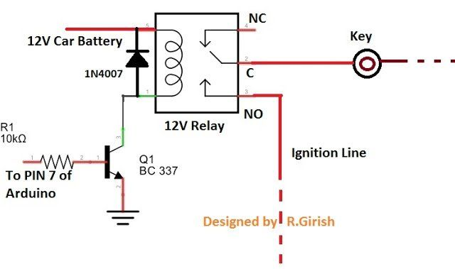 GSM Car Ignition and Central Lock Using Arduino Arduino