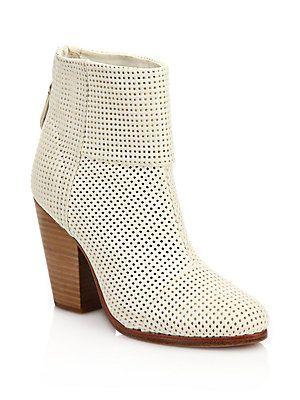 c838e0f9b4c0 Rag   Bone Classic Newbury Perforated Leather Boots - White - Size ...