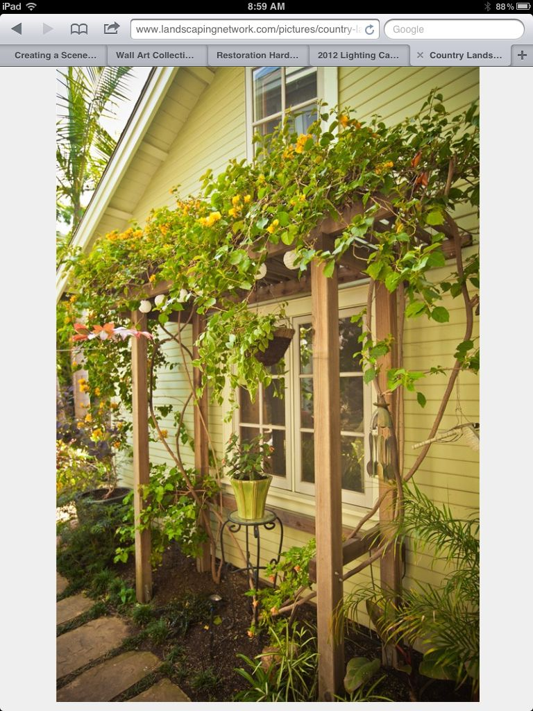 Arbor over window | Things for home | Pinterest | Arbors, Gardens ...