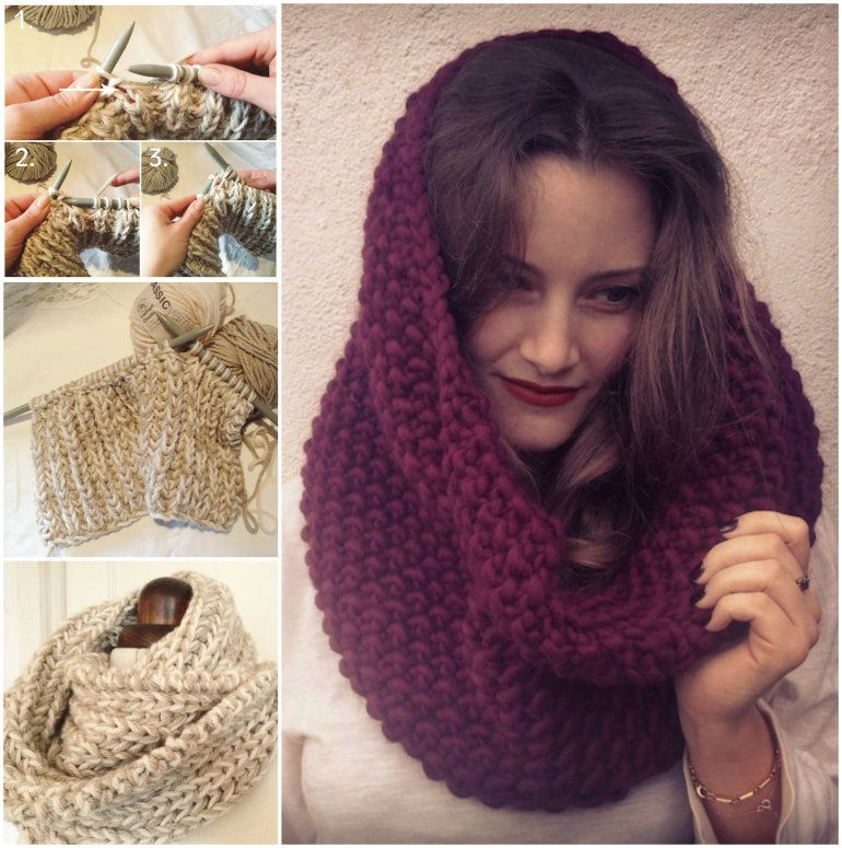 Knitted Cowl Hood Free Pattern Watch The Video Tutorial Crochet