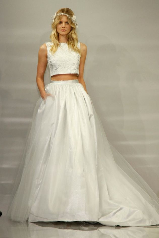 Crop Top Wedding Dresses Bridal Musings Blog5