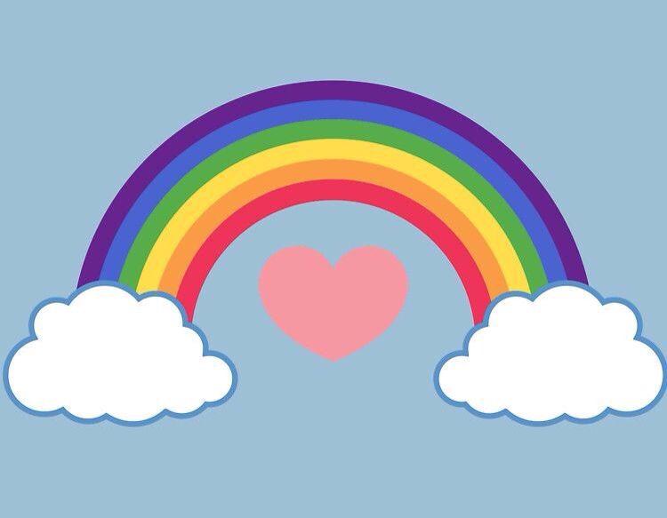 rainbow clipart for kids google rainbows pinterest rh pinterest com Rainbow Bridge Clip Art Outline free rainbow bridge clipart