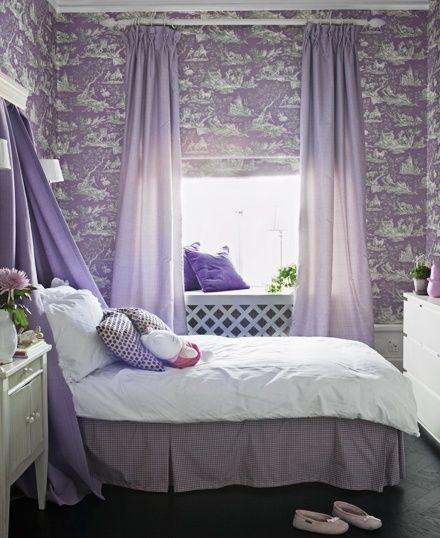 Romantische Wanddeko Helle Lila Farben Schlafzimmer