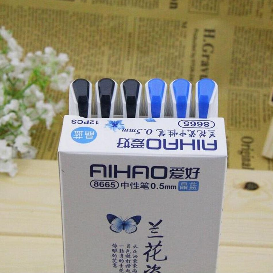 Vintage Retro Chinese Style Gel Pen Blue And White Porcelain Stationery Office School Supplies Gift