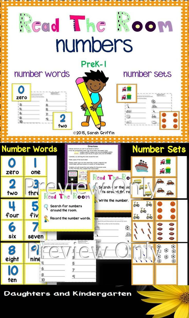 Read and Write the Room - Number - Math Center | Number words, Maths ...