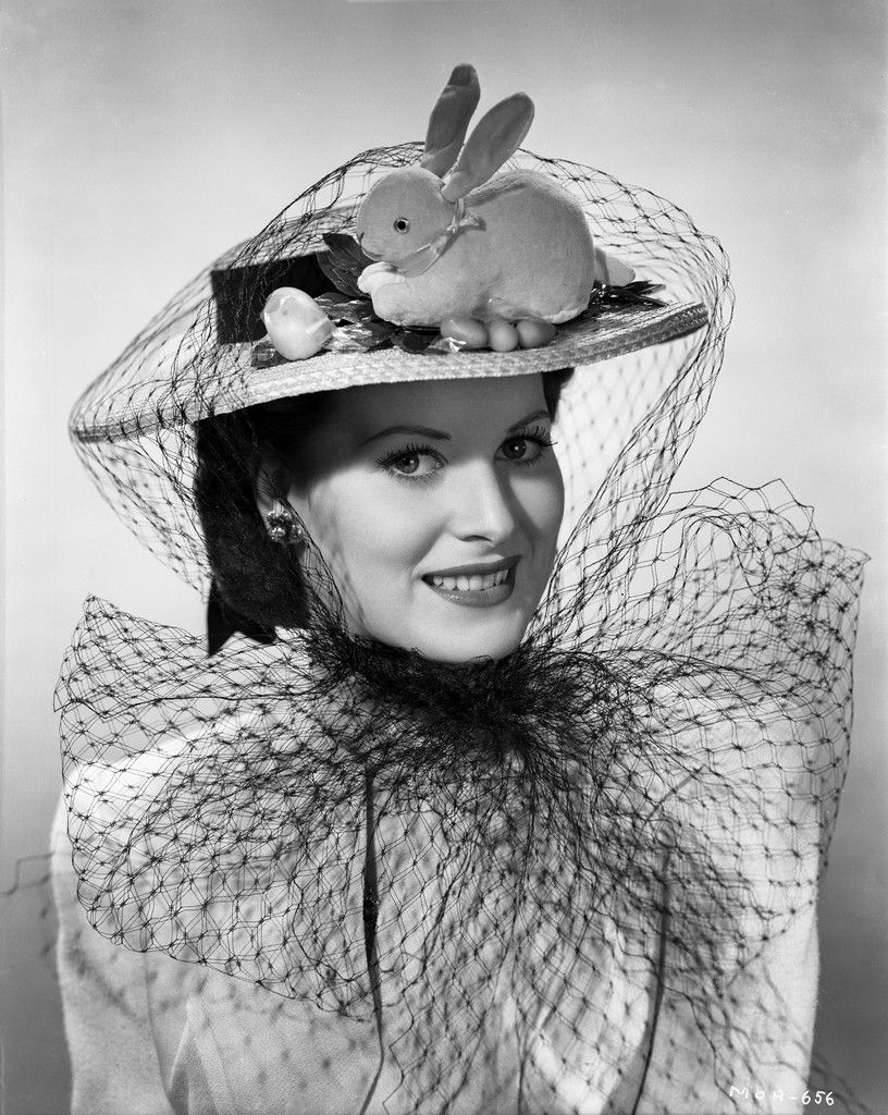 Maureen ouhara in formal dress with hat black and white premium art