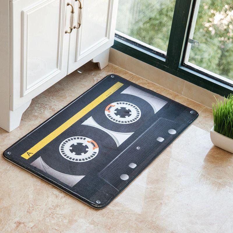 HOT Vintage Polyester Magnetic Tape Non Slip Floor Mat Carpet Indoor  Entrance Door Floor Doormat