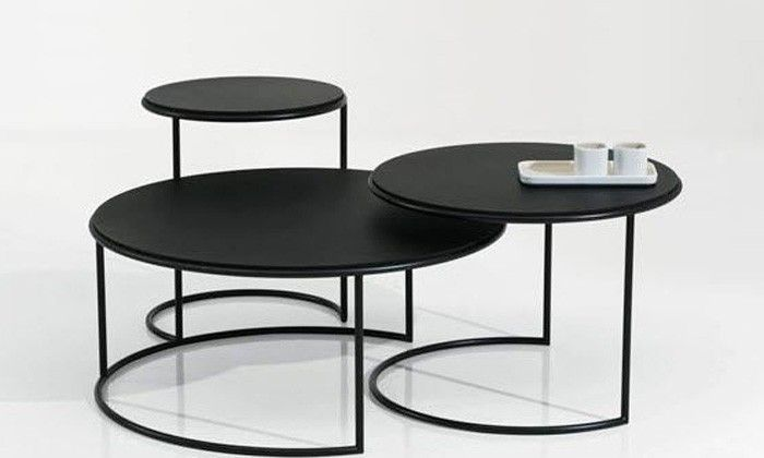 Naos, tables basses gigognes design italien, structure métal ...