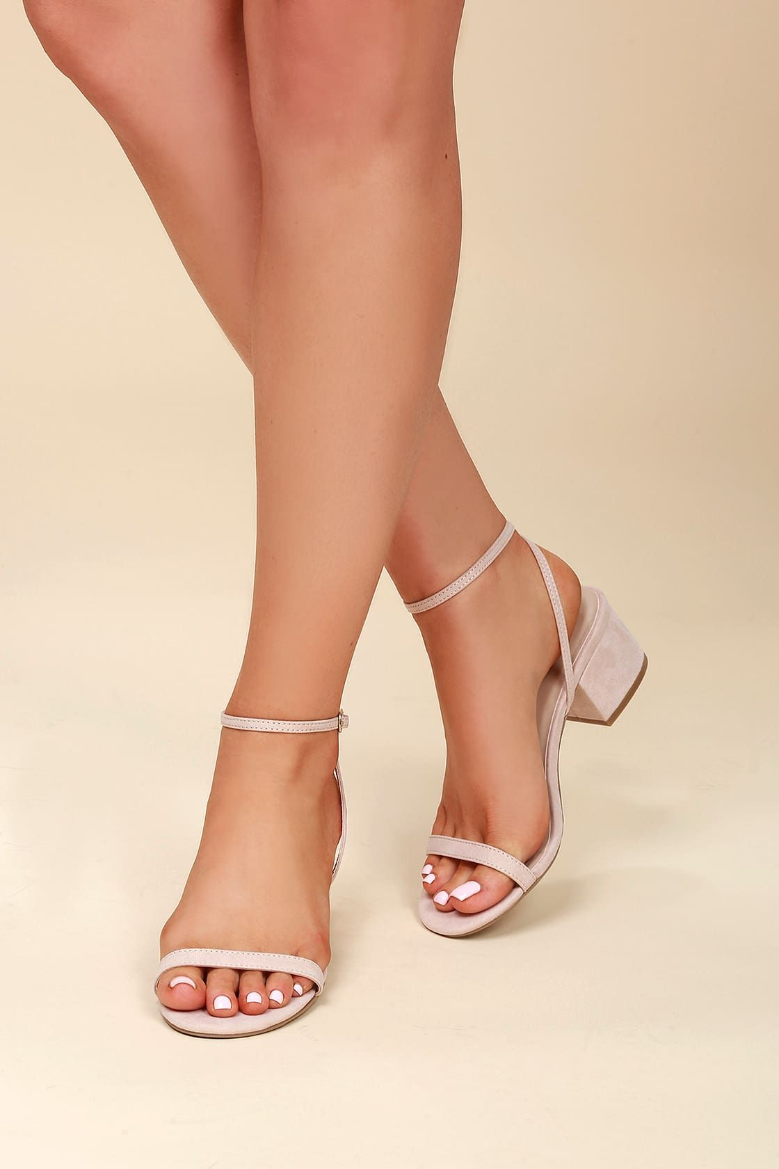 Womens Kitten Casual Mid Heels Ankle Strap Sandal Zip Wedding Prom Formal Shoes