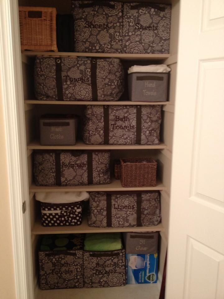 How To Organize Towels Linen Closets