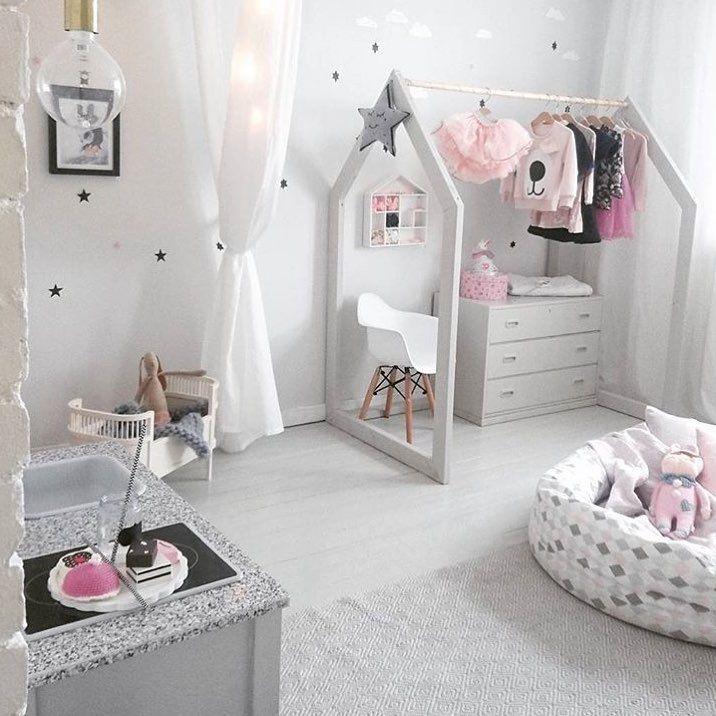 Chambre Enfant Girlroom Pastel Blanc White Cocooning Med